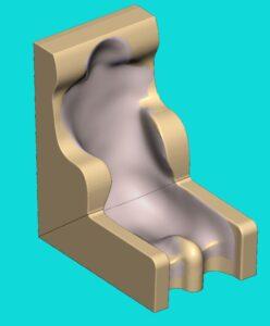 Sitzschale nach Vakuumabdruck