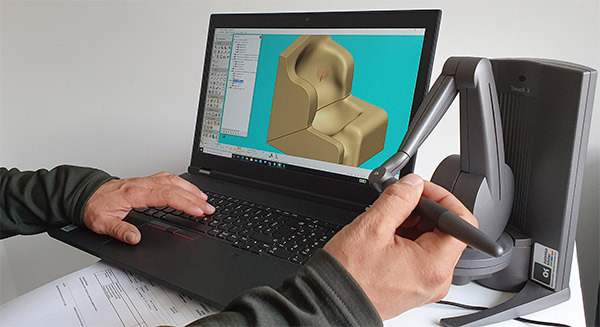 CAD-CAM Modellierung einer Sitzschale