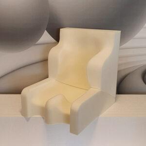 Sitzschale aus weißem Frame Foam